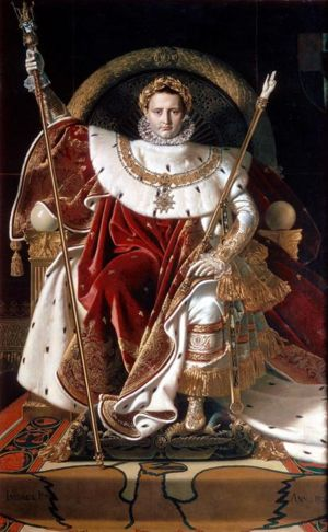 Napoleon on his Imperial Throne - 1806