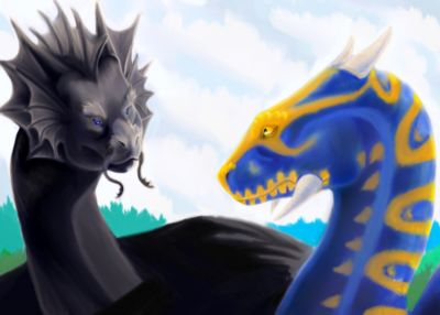 Temeraire and Lily, by Beardeddragon