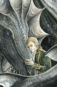 Lawrence reunited with Temeraire. (c) Anke Eissmann